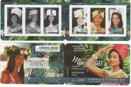 POLYNESIE. CARNET MISS TAHITI HIER ET AUJOURD'HUI (1968/2018) Miss France 2019 VOIR DESCRIPTION. SCAN RECTO/VERSO - Boekjes