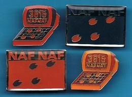 4 PIN'S //   ** NAF NAF / 3615 ** - Pin's