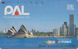 Télécarte Japon / 110-011 - Site AUSTRALIE - Musique - OPERA DE SYDNEY - AUSTRALIA Rel Japan Phonecard - Site 142 - Japon