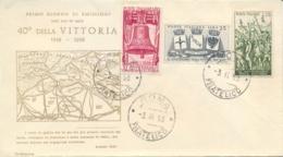 Italia Italy 1958 FDC CAPITOLIUM 40° Vittoria Nella Prima Guerra Mondiale 40th Victory In The First World War - Prima Guerra Mondiale