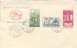 Italia Italy 1958 FDC CAVALLINO 40° Vittoria Nella Prima Guerra Mondiale 40th Victory In The First World War - Prima Guerra Mondiale