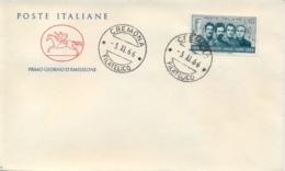 Italia Italy 1966 FDC CAVALLINO 50° Morte Degli Irredentisti Battisti Chiesa Filzi Sauro 50th Death Irredentist - Prima Guerra Mondiale