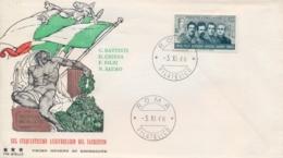 Italia Italy 1966 FDC TRE STELLE 50° Morte Degli Irredentisti Battisti Chiesa Filzi Sauro 50th Death Irredentist - Prima Guerra Mondiale
