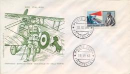 Italia Italy 1968 FDC FILAGRANO 50° Morte Francesco Baracca Asso Dell'aviazione 50th Death Ace Of The Italian Air Force - Prima Guerra Mondiale