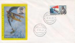Italia Italy 1968 FDC GOLD FILAGRANO 50° Morte Francesco Baracca Asso Dell'aviazione 50th Death Ace Italian Air Force - Prima Guerra Mondiale
