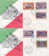 Italia Italy 1968 FDC FILAGRANO 50° Vittoria Nella Prima Guerra Mondiale Su 2 Buste 50th Victory First World War 2 Cover - Prima Guerra Mondiale