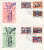 Italia Italy 1968 FDC CAPITOLIUM 50° Vittoria Nella Prima Guerra Mondiale Su 2 Buste 50th Victory First World War - Prima Guerra Mondiale