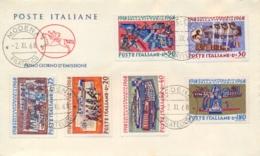 Italia Italy 1968 FDC CAVALLINO 50° Vittoria Nella Prima Guerra Mondiale 50th Victory First World War - Prima Guerra Mondiale