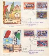 Italia Italy 1968 FDC ROMA Viaggiate 50° Vittoria Nella Prima Guerra Mondiale Su 2 Buste 50th Victory First World War - Prima Guerra Mondiale