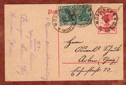 P 115 Nationalversammlung + ZF, Moessingen Nach Arbon, Ohne Nachporto 1920 (77837) - Deutschland