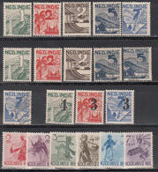 India Holandesa 1941-1947  Yvert Nº 278 / 283, 298 / 302, 303 / 305, - Indes Néerlandaises