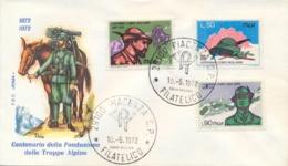 Italia Italy 1972 FDC ROMA Centenario Fondazione Corpo Degli Alpini 100th Foundation Of The Alpine Troops Corps - Militaria