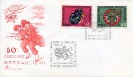 Italia Italy 1974 FDC CAPITOLIUM 50° Fondazione Associazione Nazionale Bersaglieri - Militaria
