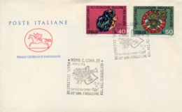 Italia Italy 1974 FDC CAVALLINO 50° Fondazione Associazione Nazionale Bersaglieri - Militaria