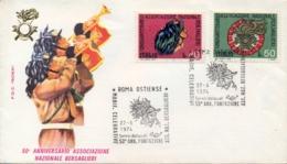 Italia Italy 1974 FDC ROMA 50° Fondazione Associazione Nazionale Bersaglieri - Militaria