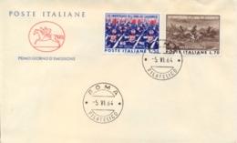 Italia Italy 1964 FDC CAVALLINO 150° Fondazione Arma Dei Carabinieri - Militaria