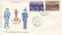 Italia Italy 1964 FDC FILAGRANO 150° Fondazione Arma Dei Carabinieri - Militaria