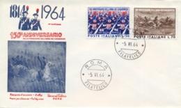 Italia Italy 1964 FDC UNIVERSAL 150° Fondazione Arma Dei Carabinieri - Militaria