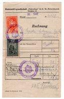 1942 YUGOSLAVIA, SERBIA, PETROVGRAD, ZRENJANIN, ELECTRICITY BILL, 2 SERBIAN ORTHODOX CHURCH REVENUE STAMPS - Historical Documents