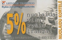 LITUANIA. CHIP. Discount Card. LT-LTV-C031. (069). - Lituania