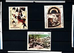 6601B)  PARAGUAY-1968 -QUADRI-PITTORI VARI-N. 491/93 -MNH** - Paraguay