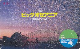 Télécarte  Japon / 110-011 - JTB - Site AUSTRALIE / OPERA DE SYDNEY - AUSTRALIA  Japan Phonecard Shell - 143 - Paysages