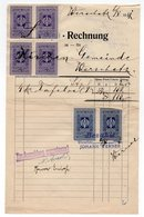 WWII GERMAN OCCUPATION OF SERBIA, VRSAC,KINGDOM OF YUGOSLAVIA REVENUE STAMPS USED 06.05.1941 - Historical Documents