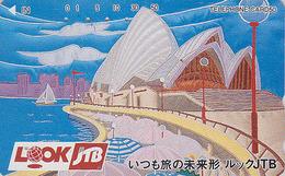Télécarte Japon / 110-016 - Site AUSTRALIE - JTB - Musique - OPERA DE SYDNEY - AUSTRALIA Japan Music Phonecard  - 144 - Peinture