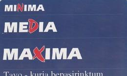 LITUANIA. CHIP. Minima Media Maxima. LT-LTV-C033. (076). - Lituania