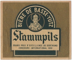 ETIQUETTE. BASSE-YUTZ (57) BIERE. STAMMPILS. - Autres