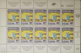 O) 1986 VENEZUELA, MILK TRUCKS -SCT 1357 - INDULAC INDUSTRIA LACTE - PROCESSING COMPANY, MNH - Venezuela