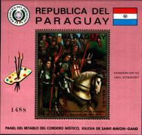 6609B)  PARAGUAY-1969--CENTENNARIO DELL'EPOPEA NAZIONALE-QUADRI-BF -MNH** - Paraguay