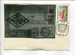 V CENTENARIO DESCUBRIMIENTO AMERICA - EXPO FILATELICA EXFIVAL ' 89. ESPAÑA 1989 SOBRE PRIMER DIA ENVELOPE FDC  -LILHU - 1981-90 Cartas