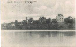 (BW138) Genval  Les Eaux Et Un Groupe De Villas - Rixensart