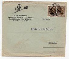 1922 YUGOSLAVIA, CROATIA, ZAGREB TO POZAREVAC, FIRST CROATIAN BROOM FACTORY, COMPANY LETTERHEAD COVER, BUTTERFLY - 1919-1929 Kingdom Of Serbs, Croats And Slovenes