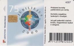 LITUANIA. CHIP. The Anniversary Year 2000. LT-LTV-C056. (046). - Lituania