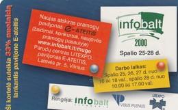LITUANIA. CHIP. Infobalt 2000. LT-LTV-C057. (085). - Lituania