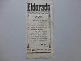 Guerre 39-45, ELDORADO, Programme Avec Mentions Militaires (et Défense Passive) Ref 503 ; PAP05 - Documents Historiques