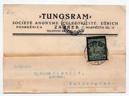 1936 YUGOSLAVIA, CROATIA, ZAGREB TO PETROVGRAD,TUNGSRAM, CORRESPONDENCE CARD - 1931-1941 Kingdom Of Yugoslavia