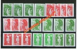 Roulettes**_22 Différentes_Sabine-Liberté-Bicentenaire - France