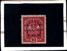 "6613B) Francobolli Austriaci Sovrastampati ""Regno D'Italia Venezia Giulia 3-XI-18""- 10 H. Corona Del Kaiser-MLH* - 8. WW I Occupation"