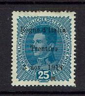 AUSTRIA..Italian Occupation (Trintino)...Scott N40...VAT VAL = $75.00...mh - 1850-1918 Empire