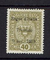 AUSTRIA..Italian Occupation (Trintino)...Scott N42...VAT VAL = $100.00...mh - 1850-1918 Empire