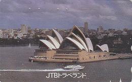 Télécarte Japon / 110-011  - JTB - SITE AUSTRALIA - SYDNEY OPERA - Japan Phonecard Musique Music Shell Coquillage  - 150 - Landscapes