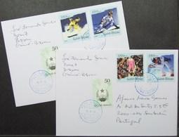 Guine-Bissau - Cover Lot (2) To Portugal Ski - Ski
