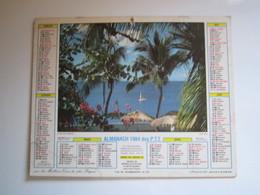 1984 ALMANACH DES P.T.T Calendrier Des Postes HAUTE-MARNE 52 - Calendriers
