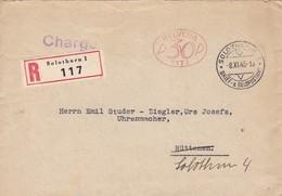 Brief ( Helvetia P30P 1173) Einschreiben: R Solothurn 1 117. Stempel: Solthurn Brief & Geldpostamt - Rüttene + So- Stei - Affranchissements Mécaniques