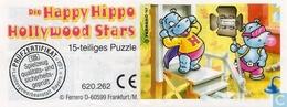 BPZ Happy Hippo Hollywood / Puzzle - Ü-Ei