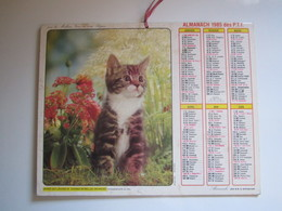 1985 ALMANACH DES P.T.T Calendrier Des Postes HAUTE-MARNE 52 - Calendriers