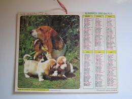 1986 ALMANACH DES P.T.T Calendrier Des Postes HAUTE-MARNE 52 - Calendriers